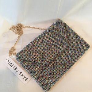Malibu Skye Rhinestone Clutch Handbag Purse